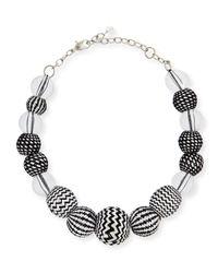 Marina Rinaldi - White Lucilla Geometric Ball Necklace - Lyst
