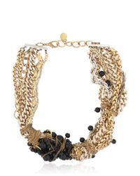 Maria Zureta | Black Beaded Multi Chain Necklace | Lyst