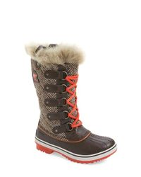 Sorel | Gray Tofino Quilted Canvas and Leather Boots | Lyst