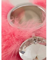 Fendi | Pink Fox Fur Cuff | Lyst