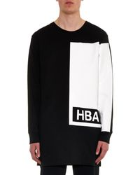 Hood By Air - Black Illusion Block-Print Cotton-Jersey Top for Men - Lyst