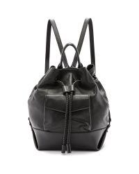 L.A.M.B. | Gracie Drawstring Backpack - Black | Lyst