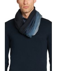 BOSS - Blue 'calores' | Pinstripe Ombre Scarf for Men - Lyst