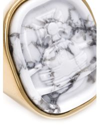 Vivienne Westwood - White Moon Stone Ring - Lyst