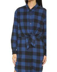 Cheap Monday - Black Flannel Dress - Lyst
