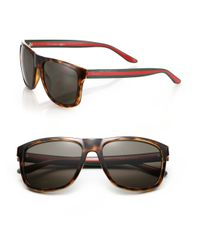 Gucci - Brown 1118/s 57mm Mirror Rectangular Sunglasses - Lyst