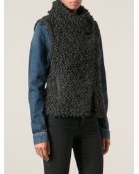 IRO - Gray 'catleen' Knitted Looped Gilet - Lyst