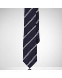 Ralph Lauren Black Label | Blue Striped Silk Tie for Men | Lyst