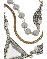 Lulu Frost - Blue Pearl Reign Gold-plated Crystal and Freshwater Pearl Necklace - Lyst