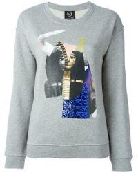 McQ | Gray Egyptian Collage Print Sweatshirt | Lyst