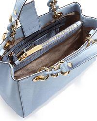 MICHAEL Michael Kors | Blue Cynthia Small Satchel Bag | Lyst
