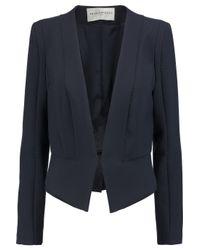 Amanda Wakeley - Blue Stitch-detailed Stretch-crepe Jacket - Lyst