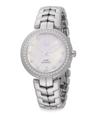 Tag Heuer - Metallic Link Diamond & Stainless Steel Automatic Bracelet Watch - Lyst