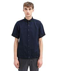 Kolor - Black Mens High Tech Mesh Buttoned Shirt for Men - Lyst