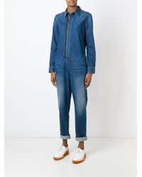 Stella McCartney - Blue Denim Jumpsuit - Lyst