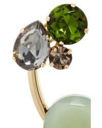 Marni | Green Horn And Crystal Cluster Earrings | Lyst