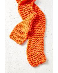 Urban Outfitters - Orange Icelandic Rib Scarf - Lyst