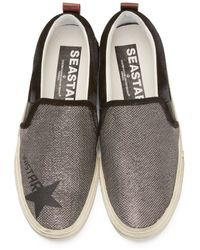 Golden Goose Deluxe Brand - Gray Black And Silver Mesh Sea Star Sneakers for Men - Lyst