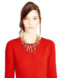 Oscar de la Renta - Red Coral Shaped Necklace - Lyst