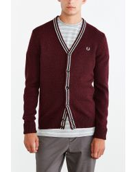 Fred Perry | Purple Cardigan for Men | Lyst