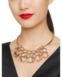 kate spade new york - Metallic Vegas Jewels Statement Collar Necklace - Lyst