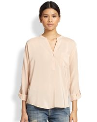 Joie - Pink Markelle Silk Blouse - Lyst