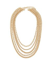 Forever 21 | Metallic Tiered Curb Chain Necklace | Lyst