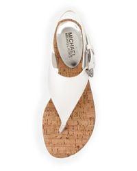 MICHAEL Michael Kors - White London Leather Sandals - Lyst