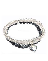 Gaby | Multicolor Valentine Semi Precious Stone Bracelet | Lyst
