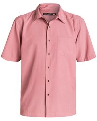Quiksilver | Pink Waterman Cane Island Small Check Shirt for Men | Lyst