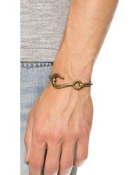 Giles & Brother - Brown Hook & Hinge Cuff for Men - Lyst