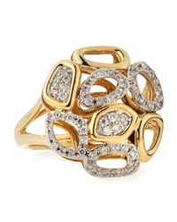 KC Designs | Metallic 14k Freeform Cutwork Diamond Ring | Lyst