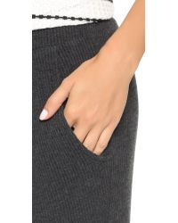 LNA - Gray Madison Ribbed Pants - Lyst