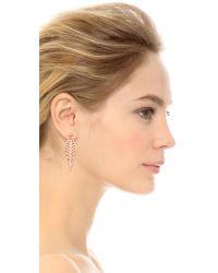 Rebecca Minkoff - Pink Open Blade Drop Earrings - Lyst