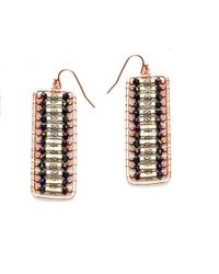 Nakamol | Multicolor Atticus Earrings-silver/hematite | Lyst