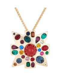 Kenneth Jay Lane | Metallic Women's Maltese Cross Pendant Necklace | Lyst