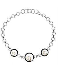 Aeravida | Metallic Trendy Triple Swirl Circle Shiva Eye Shell .925 Sterling Silver Bracelet | Lyst