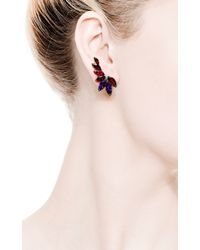 Stephen Webster - Red British Couture Collection Earrings with Detachable Black Diamond Feather - Lyst