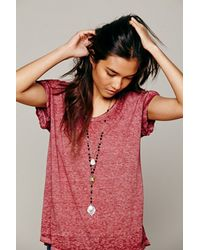 Free People - Black Womens Double Layer Rosary - Lyst