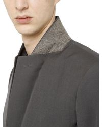 Rick Owens - Gray Wool Drill Jacket for Men - Lyst