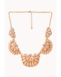 Forever 21 - Orange Elegant Faux Stone Bib Necklace - Lyst