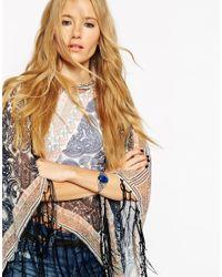 ASOS   Blue Mood Stone Cuff Bracelet   Lyst