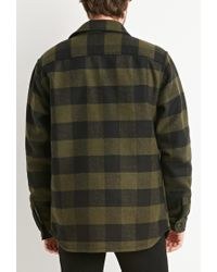 Forever 21 | Green Buttoned Plaid Jacket for Men | Lyst