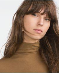 Zara | Brown Polo Neck Top | Lyst
