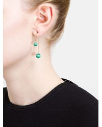 Asherali Knopfer | Green Interchangeable Ball And Gold Bar Earring | Lyst