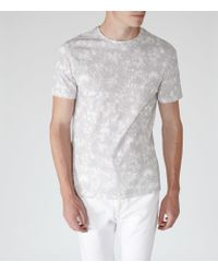 Reiss | Gray Cogg Printed Cotton Shirt for Men | Lyst