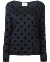 Forte Forte - Blue Polka Dot Long Sleeve T-shirt - Lyst