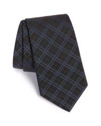 John Varvatos - Blue Plaid Silk Blend Tie for Men - Lyst