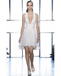 Cushnie et Ochs - White Sports Mesh Flared Dress - Lyst