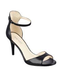 Nine West - Black Tullip Ankle Wrap Sandal - Lyst
